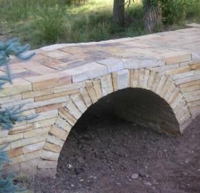 dry laid sandstone arch bridge
