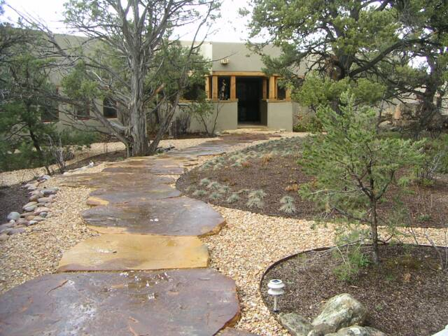 flagstone entry path
