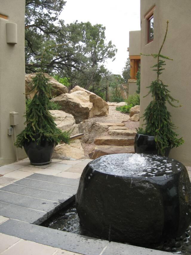 granite water feature and cap