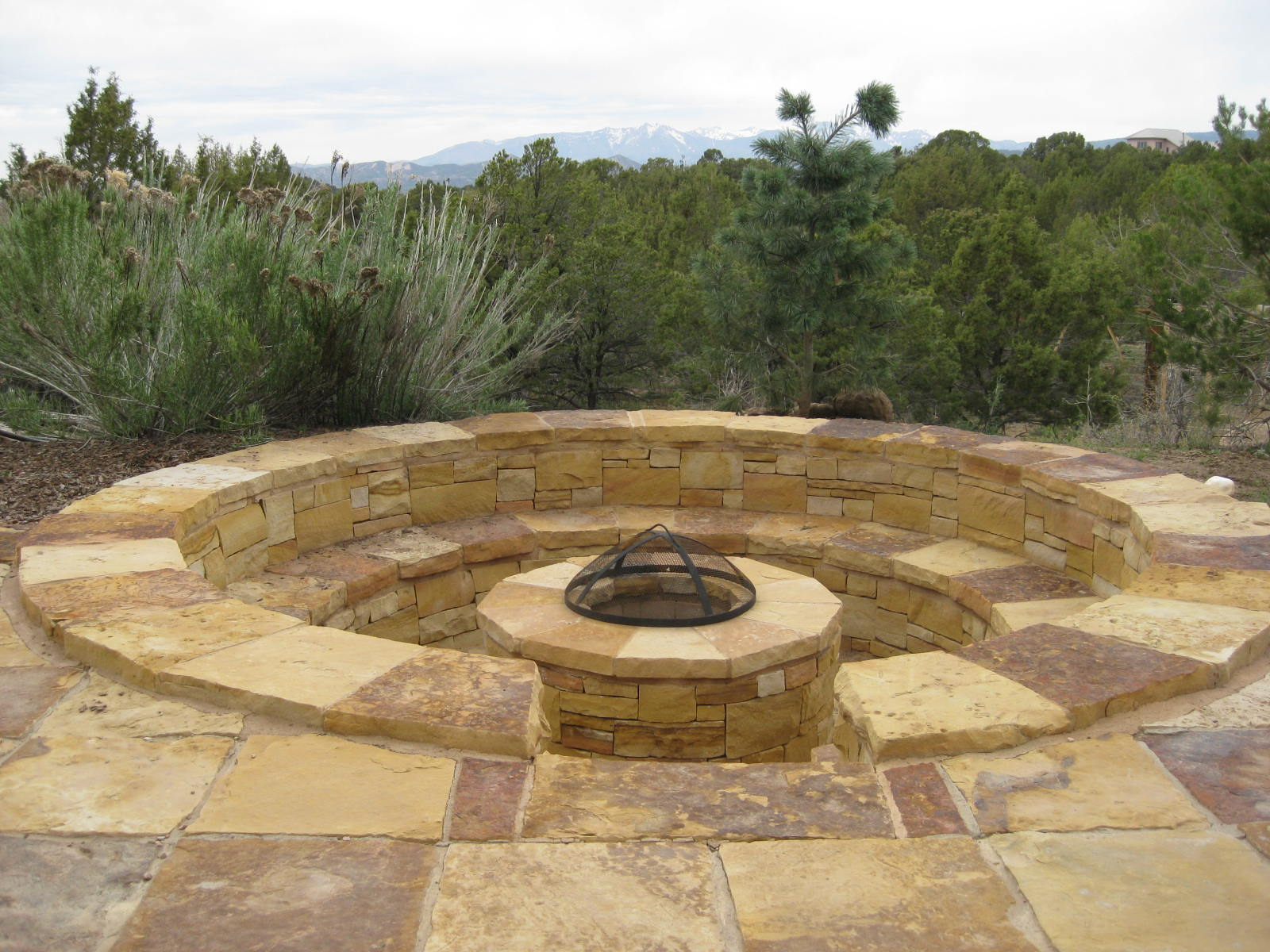Sunken Fire Pit Seating Out The Door Pinterest