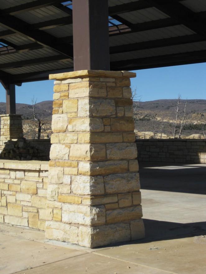 Mesa Verde Sandstone Rock Mortar : Mesa verde columns and wall canyon landscape llc